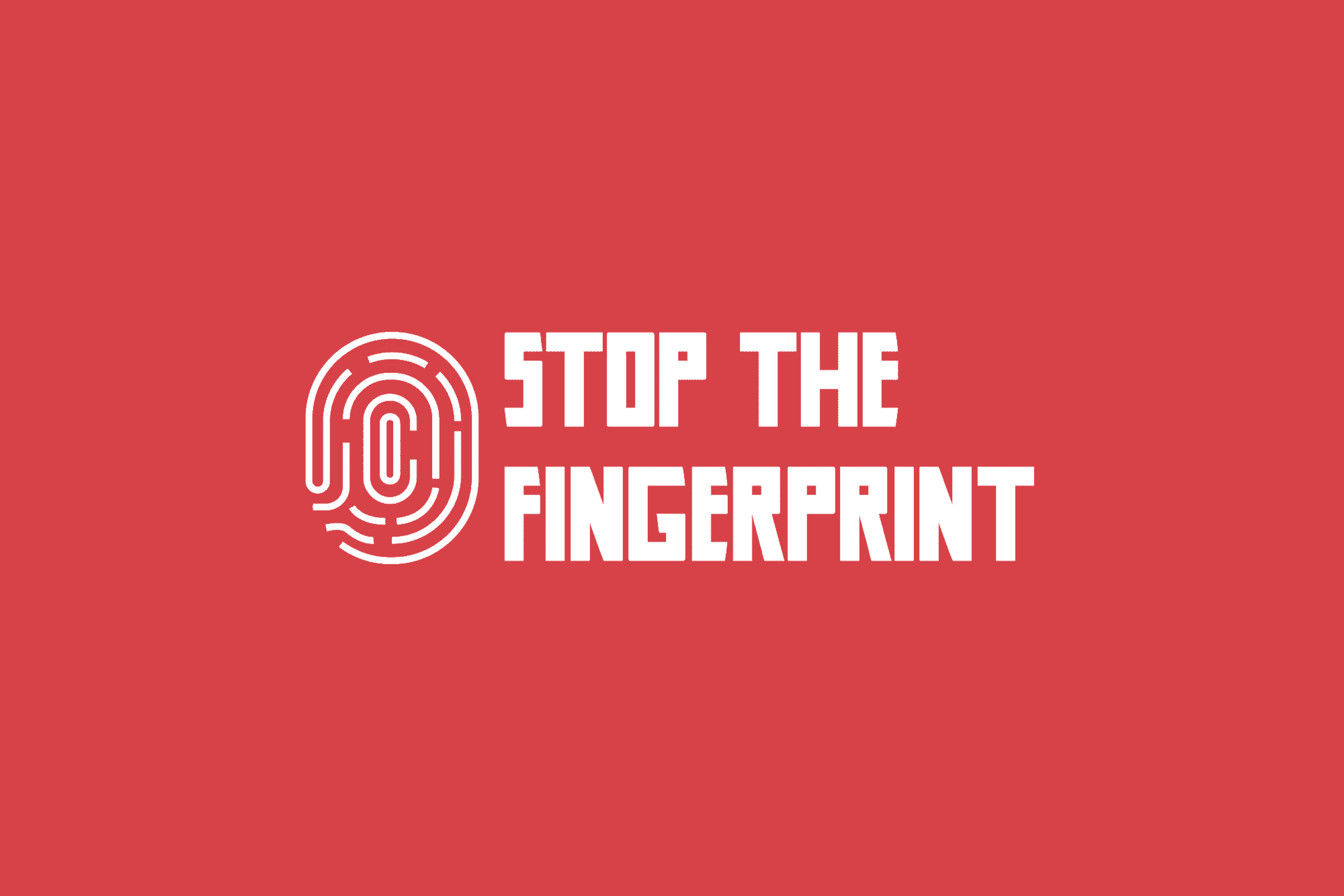"Support ""Stop The Fingerprint"""