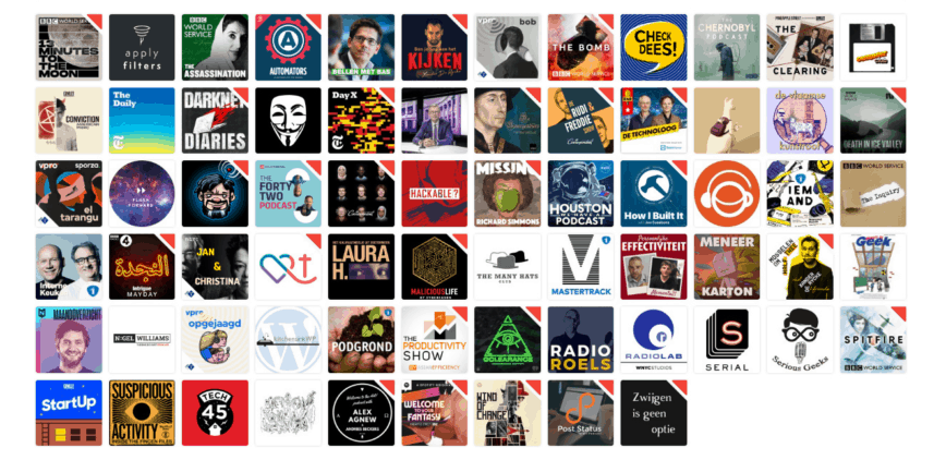 Podcasts I listen to